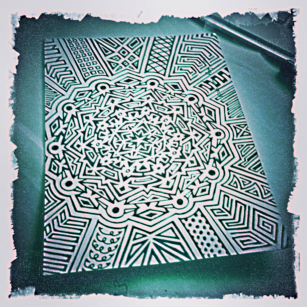 complex pattern doodle by fangmarks