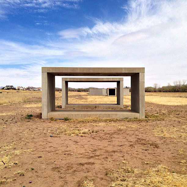 concrete blocks in marfa - photo by fangmarks