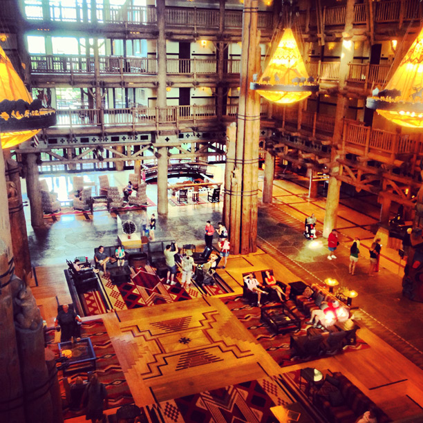 interior shot of wilderness lodge