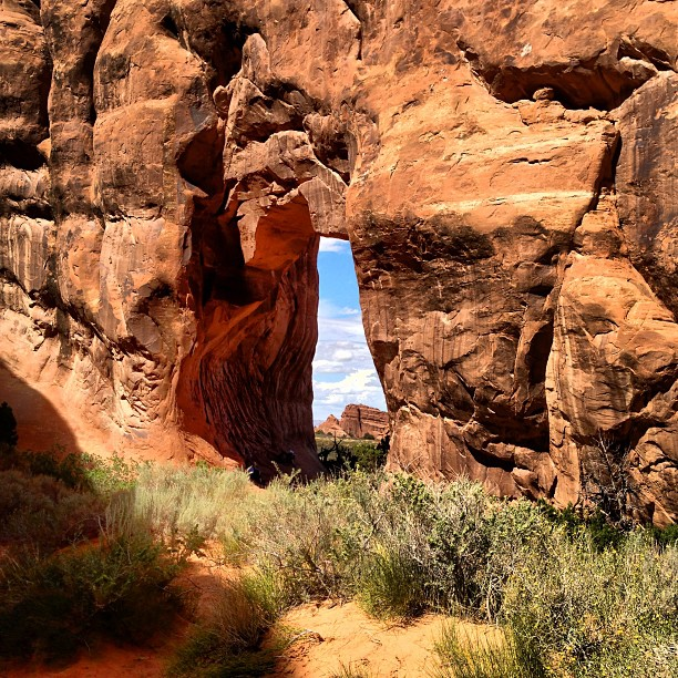 Image of an arch at arches national park